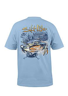 Salt Life Blue Crab Short Sleeve Graphic Pocket Tee