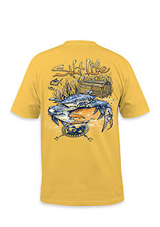 Salt Life Short Sleeve Blue Crab Graphic Tee