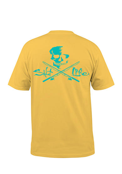 Salt Life Short Sleeve Neon Skull And Poles Graphic Tee