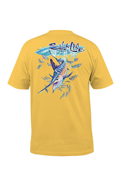 Salt Life Striped Up Pocket Graphic Tee