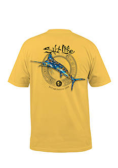 Salt Life Short Sleeve Camo Marlin Pocket Graphic Tee