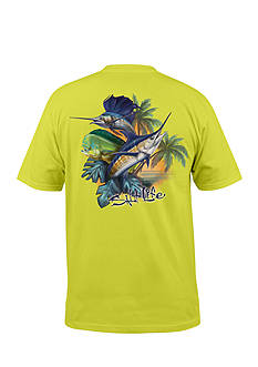 Salt Life Paradise Slam Graphic Pocket Tee