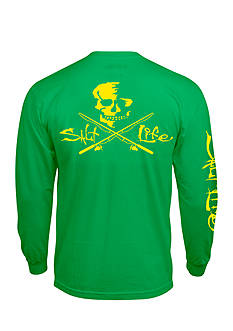 Salt Life Long Sleeve Neon Skull and Poles Tee