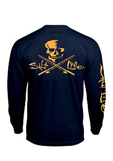 Salt Life Neon Skull and Poles Long Sleeve Pocket Graphic Tee