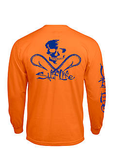 Salt Life Long Sleeve Neon Skulls and Hook Graphic Tee