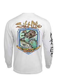 Salt Life Long Sleeve Bay Brew Lager Graphic Tee