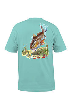 Salt Life Red Fish and Blue Crab Graphic Tee