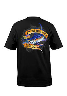 Salt Life Short Sleeve Live by the Sword Pocket Graphic Tee