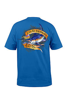 Salt Life Short Sleeve Live by the Sword Graphic Pocket Tee