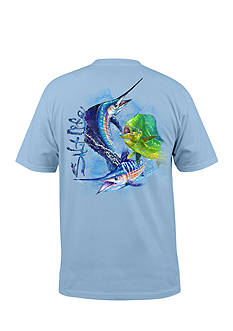 Salt Life Short Sleeve Ocean Slam Graphic Pocket Tee