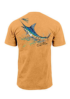 Salt Life Short Sleeve Painted Marlin Graphic Pocket Tee