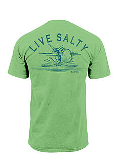 Salt Life Live Salty Sail Short Sleeve Graphic Pocket Tee