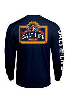 Salt Life Long Sleeve Pocket Brew Company Graphic Tee