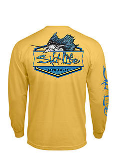 Salt Life Long Sleeve Pocket Sailfish Badge Graphic Tee