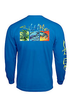 Salt Life Long Sleeve Trippy Boxes Graphic Tee