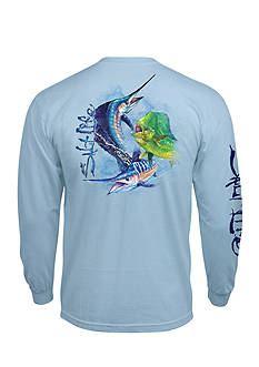 Salt Life Long Sleeve Pocket Ocean Slam Graphic Tee
