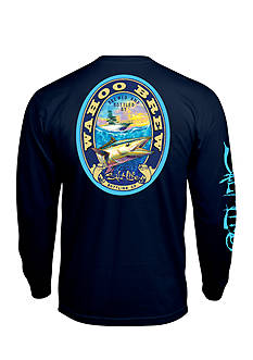 Salt Life Long Sleeve Wahoo Brew Pocket Tee