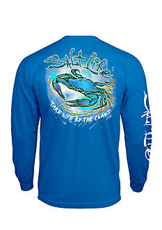 Salt Life Long Sleeve Life By The Claws Graphic Tee
