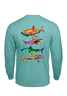 Salt Life Long Sleeve Psycho Shark Graphic Tee