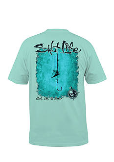 Salt Life Hook Line and Sinker Short Sleeve Graphic Tee