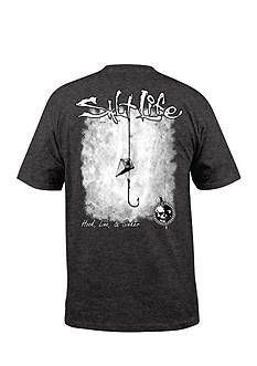 Salt Life Hook Line and Sinker Fade Short Sleeve Graphic Tee