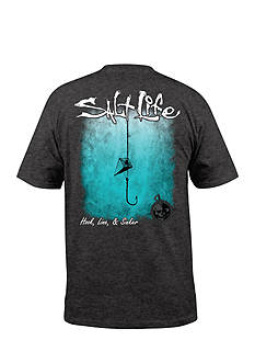Salt Life Hook Line and Sinker Fade Short Sleeve Graphic Tee
