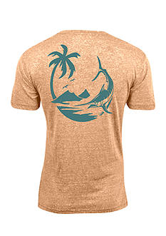 Salt Life Short Sleeve Triblend Marlin Palm Graphic Tee