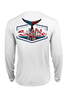 Salt Life American Tail SLX UVapor Long Sleeve Pocket Tee