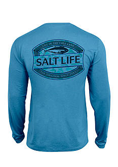 Salt Life Life In The Cast Lane SLX UVapor Long Sleeve Pocket Tee
