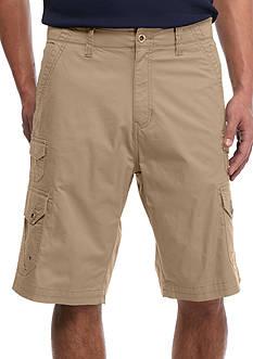 Plugg™ Big & Tall 'Trench' Comfort Flex Waistband Stretch Twill Cargo Shorts