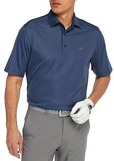 Greg Norman Collection Short Sleeve Mini Feed Stripe Polo Shirt