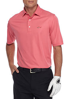 Greg Norman Collection Short Sleeve Mini Feed Stripe Polo Shirt