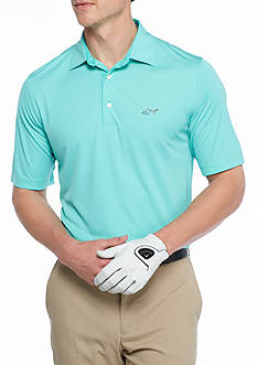 Greg Norman Collection Pindot Jacquard Polo