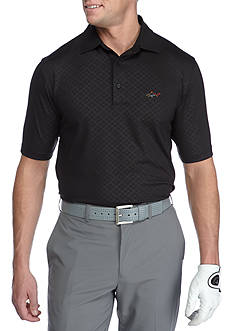Greg Norman Collection Short Sleeve Geo Embossed Stretch Polo Shirt