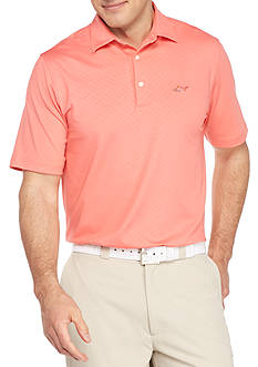 Greg Norman® Collection Short Sleeve Geo Embossed Stretch Polo Shirt