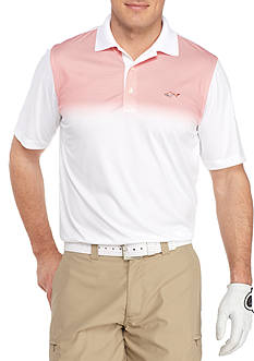 Greg Norman Collection Short Sleeve Ombre Print Polo Shirt