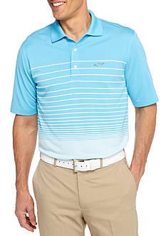 Greg Norman Collection Short Sleeve Ombre Stripe Polo Shirt