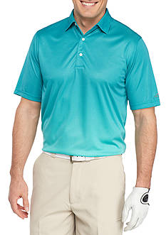 Greg Norman Collection Short Sleeve Ombre Mosiac Sublimation Print Polo Shirt