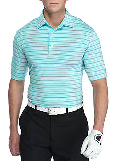 Greg Norman Collection Short Sleeve Stretch Mini-stripe Polo Shirt