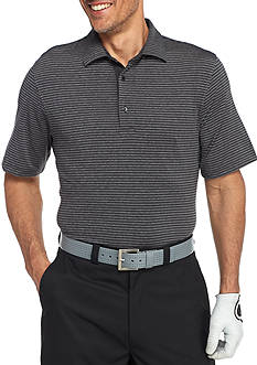 Greg Norman Collection Short Sleeve Heather Stripe Polo Shirt
