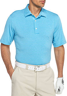 Greg Norman® Collection Short Sleeve Heather Stripe Polo Shirt