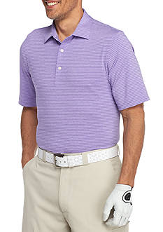Greg Norman Collection Short Sleeve Heather Stripe Polo Shirt