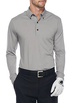 Greg Norman® Collection Solid Long Sleeve Polo Shirt