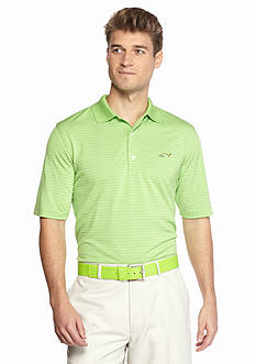 Greg Norman Collection Promo Stripe Shark On Chest Polo Shirt