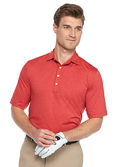Greg Norman Collection Solid Heathered Polo Shirt