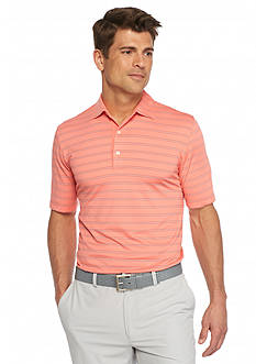 Greg Norman® Collection Striped Weather-Knit Polo Shirt