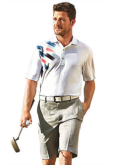 Greg Norman® Collection Short Sleeve Blurred Lines Print Polo