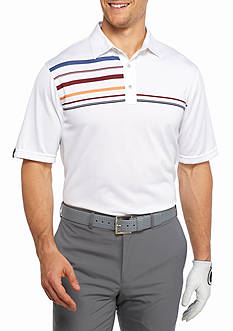 Greg Norman Collection Intarsia Stripe Polo Shirt