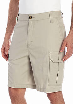 Saddlebred® 9-in. Flat-Front Ripstop Shorts