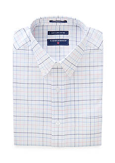 Saddlebred Classic-Fit Tattier Short Sleeve Oxford Easy Care Dress Shirt